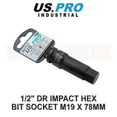 "H19 x 78mm 1//2"" Dr Extra Long Impact Impacted Allen Hex Key Socket US PRO 3368"