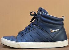 adidas Originals PX 2 Vespa Trefoil Mid Top Leather Shoes Blue on Blue size 8.5