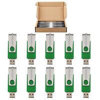 Kootion Lot 10/20/50/100 4gb Flash Thumb Pen Drives Memory Stick U Disk Green Us