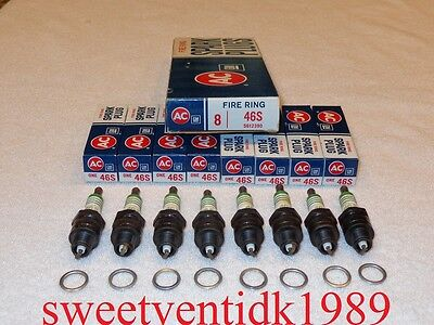 AC 46S Fire Ring Spark Plugs 5612390 4 rings NOS