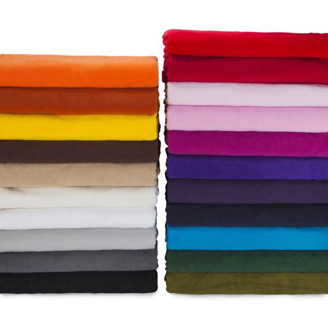 Polar Fleece Anti Pill Quality Fabric, 21 Fashion Colours Cheap Price, Soft Pile