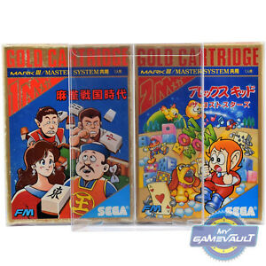 10 X Game Box Protections Pour Sega Mark Iii 3 0.4 Mm Display Case Master System-afficher Le Titre D'origine Ijxuev3h-07182355-799547924
