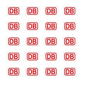 20 Aufkleber 1cm Rot Db Deutsche Bahn Zeichen Modellbau Mini