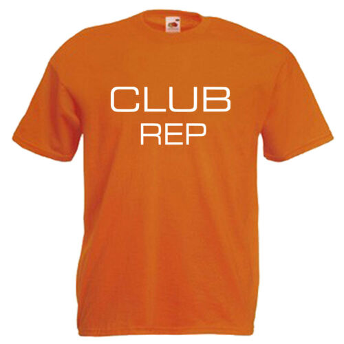 3XL Club Rep Adults Mens T Shirt 12 Colours  Size S