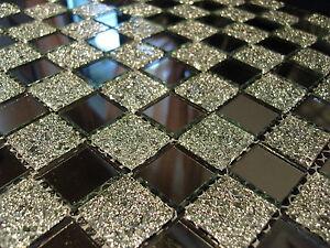 1 matte glasmosaik mosaik fliesen klarglas spiegel nm02 klarglas spiegelmosaik ebay - Mosaik fliesen selbstklebend ...