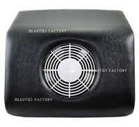 Pure Black Color Nail Art File Dust Suction Collector & Brush 92BK
