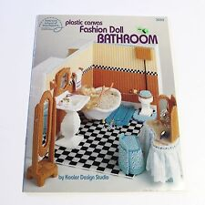 Barbie Plastic Canvas Bathroom Pattern Leaflet Book Fashion Doll Toilet Tub Sink