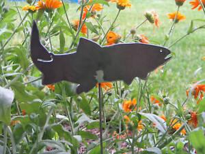 Fish Garden Yard Art Cutthroat Trout Creek Metal Stake | EBay