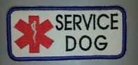 Red Jumbo Star Staff Embroidered Sew-on Patch - Service Dog