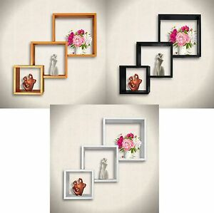 Set-of-3-Connected-Cube-Floating-Wall-Shelves-CD-DVD-BOOK-Storage-Display-Shelf