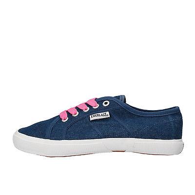 Mädchen jungen schuhe EVERLAST 35 EU sneakers blau segeltuch AF831-E