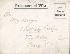 MILITARY : WWI PRISONER OF WAR envelope to Surrey-CENSORED