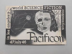 FIRST-FANDOM-1946-4th-World-Science-Fiction-034-Pacificon-034-PROGRAM-40-SIGNATURES