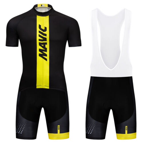 Men/'s Short Sleeve Jerseys Bicycle Cycling Jersey Bibs Shorts Set Outfits Black