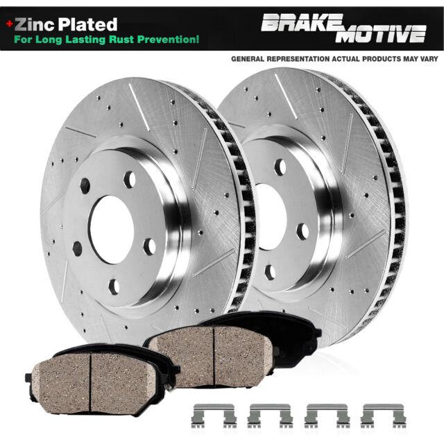 For 2014-2016 2017 Nissan Rogue Front+Rear Drill Slot Brake Rotors Ceramic Pads