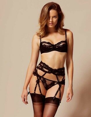 agent provocateur 'lacy' set lace full set bra thong suspender RRP £220