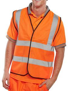 EN471 Class 2 Waistcoat Site /& Workplace Safety Orange /& Yellow High Vis Vest