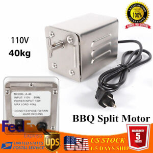 Electric-BBQ-Spit-Motor-Stainless-Steel-Rotisserie-Roaster-Goat-Pig-Chicken