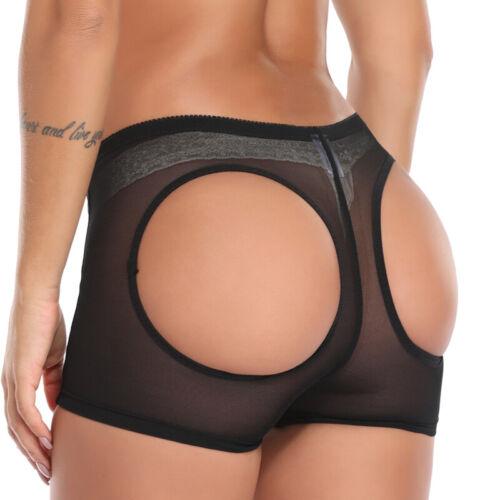 Damen gepolsterte H?schen Butt Lifter Shaper Mieder Pants Push Up Unterw?sche DE