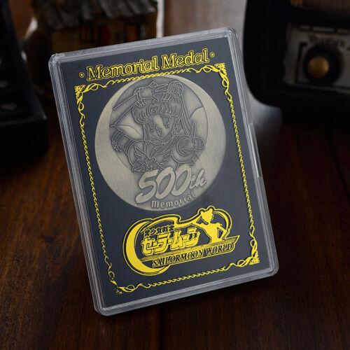 Sailor Moon Anniversary Brass Coin Bas Relief Memorial 500th Collection Cos Gift