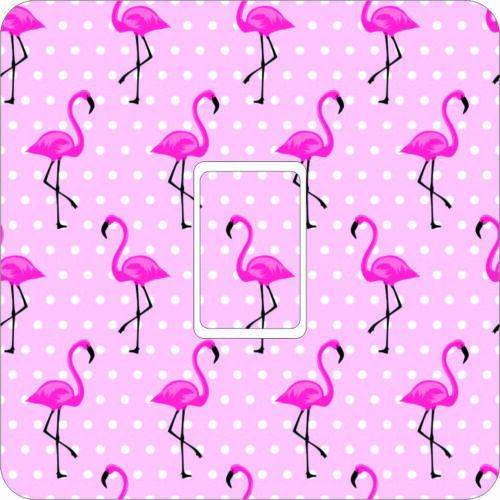 Flamingoes Single Light Switch Vinyl Sticker Skin Kids Bedroom LG26