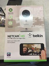 Belkin WeMo NetCam HD Wi-Fi Camera Night Vision Glass Wide Angle Lens Brand New