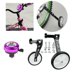 "16~24/""Child Bike Training Wheel Learning Stabilisers Auxiliary Wheel Ring Horn"