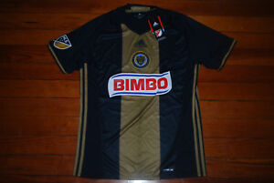 be163885ad8 NEW Men's Adidas Philadelphia Union Black Gold Soccer Jersey (Medium ...