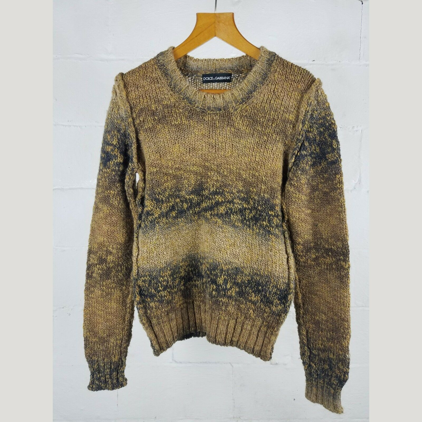 Dolce & Gabbana Virgin Wool Alpaca Knit Autumn Sweater 44 S