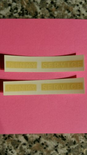 """Dinky 25X//430 Commer /""""Dinky Service/"""" White Lettering Decals//Transfers"""