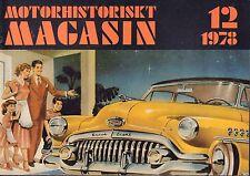 Motorhistoriskt Magasin Swedish Car Magazine 12 1978 Doble 1925 032717nonDBE