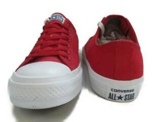 Converse Chuck Taylor All Star Ii Buey Salsa Rojo/Blanco Low Top ...