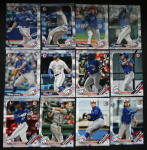 2019-Bowman-Toronto-Blue-Jays-Paper-Base-Team-Set-12-Baseball-Cards