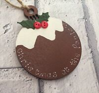 Personalised Christmas Tree Decoration Handmade Christmas Pudding Gift