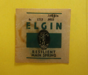 Details about ELGIN WATCH MAINSPRING-ELGIN PART # 1713 SIZE 0 grade 198  second model