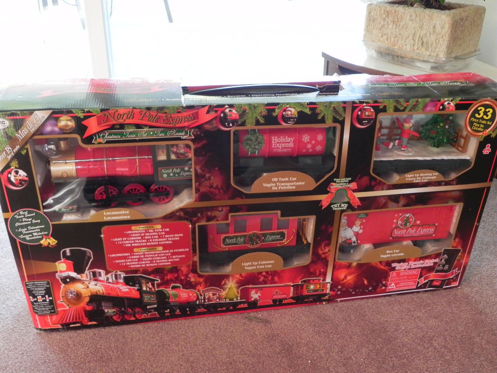 Polo Norte Express Train Set 33 Piezas De Navidad-control remoto por Eztec 37297