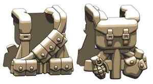 Details about US WW2 Dark Tan Rifleman (W251) Field Gear Compatible With  Brick Mini-Figures
