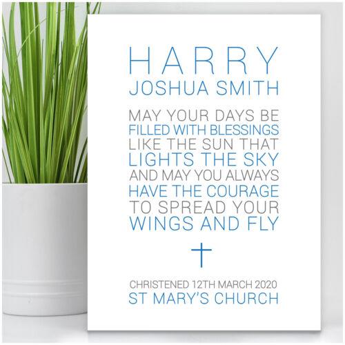 Christening Day Poem Present Personalised Baby Boy Christening Baptism Gift