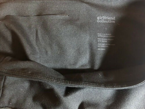 Girlfriend Collective L Large black high rise comp