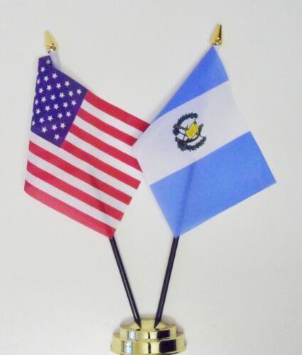 Estados Unidos de América /& Guatemala Doble Amistad de MESA Banderas