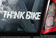 THINK BIKE! - Car Window Sticker -  Valentino Rossi - PROCEEDS TO CHARITY - V02