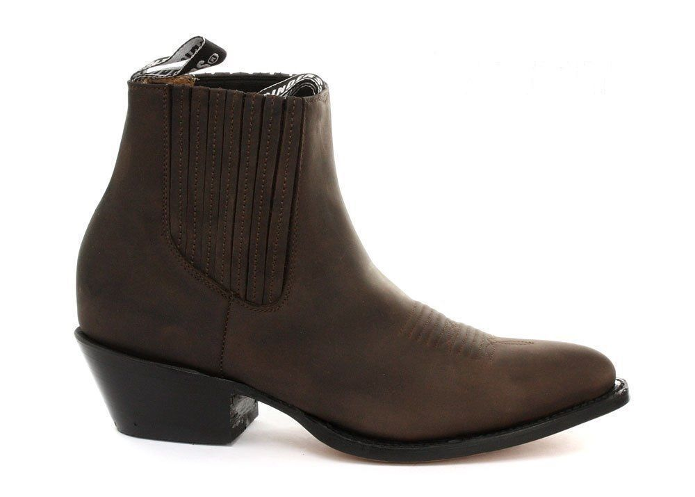 Grinders Men's Maverick Brown Genuine Leather Ankle Boot Western Cowboy Boots