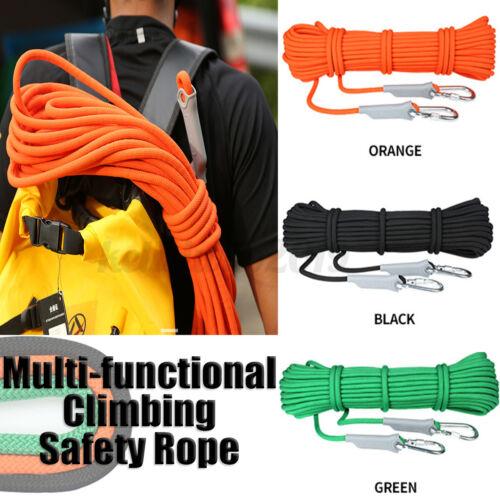 10//20m Kletterseil 9,8mm Klettern Meterware Seil Sicherung Survival Fire Rescue