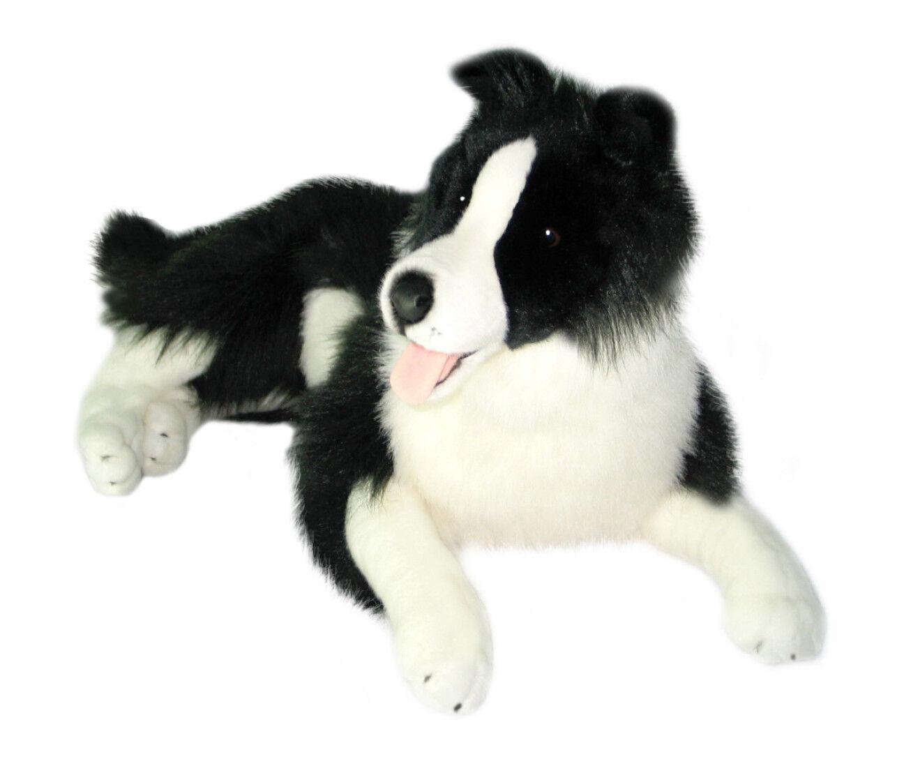 NEW BOCCHETTA - OSCAR LARGE LYING BORDER COLLIE DOG SOFT PLUSH TOY 62cm