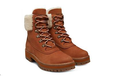 Timberland Damen Stiefel A1RP2 COURMAYEUR VALLEY BOOT NUBUCK WP Kragen Lammfell | eBay