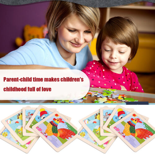 Baby 3D Wooden Animal Puzzle Toy Developmental Early Educational Play Kids Gifts