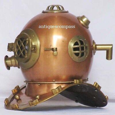 Nautical Steel & Aluminium Deep Sea Diving Divers Helmet - Marine Replica Helmet