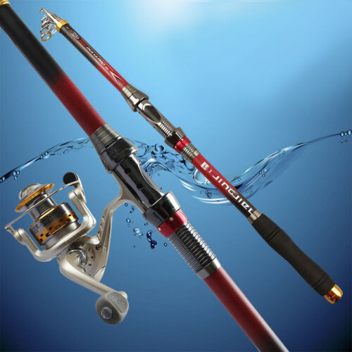 Simple Carbon Telescopic Spinning Casting Pole Sea Fishing Rod Maxcatch 9FT