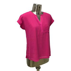 Fransa Top Double Blouse Pink UK M 12 (EU40) NEW Women's RRP £39