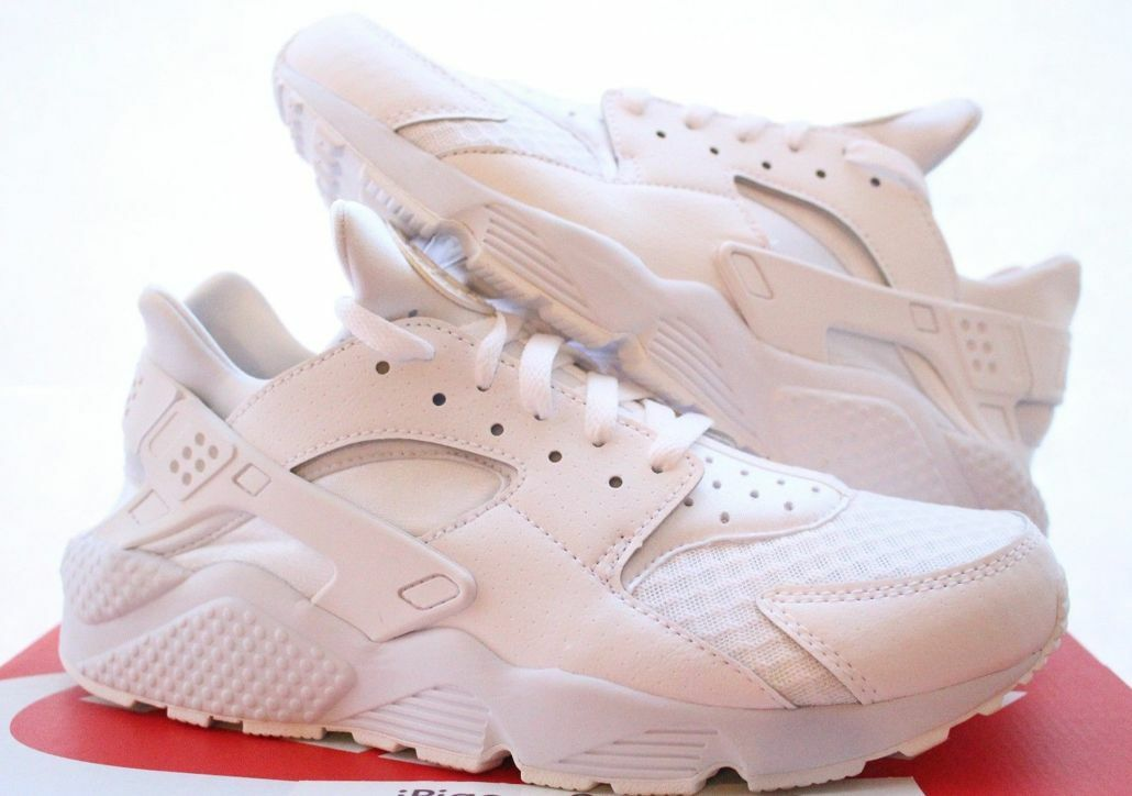 Nike Air Huarache Huarache Huarache Run Uomo Triple White Pure Platinum 318429-111 176a5e